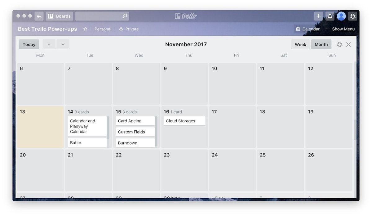1. Calendar and Planyway Calendar 1