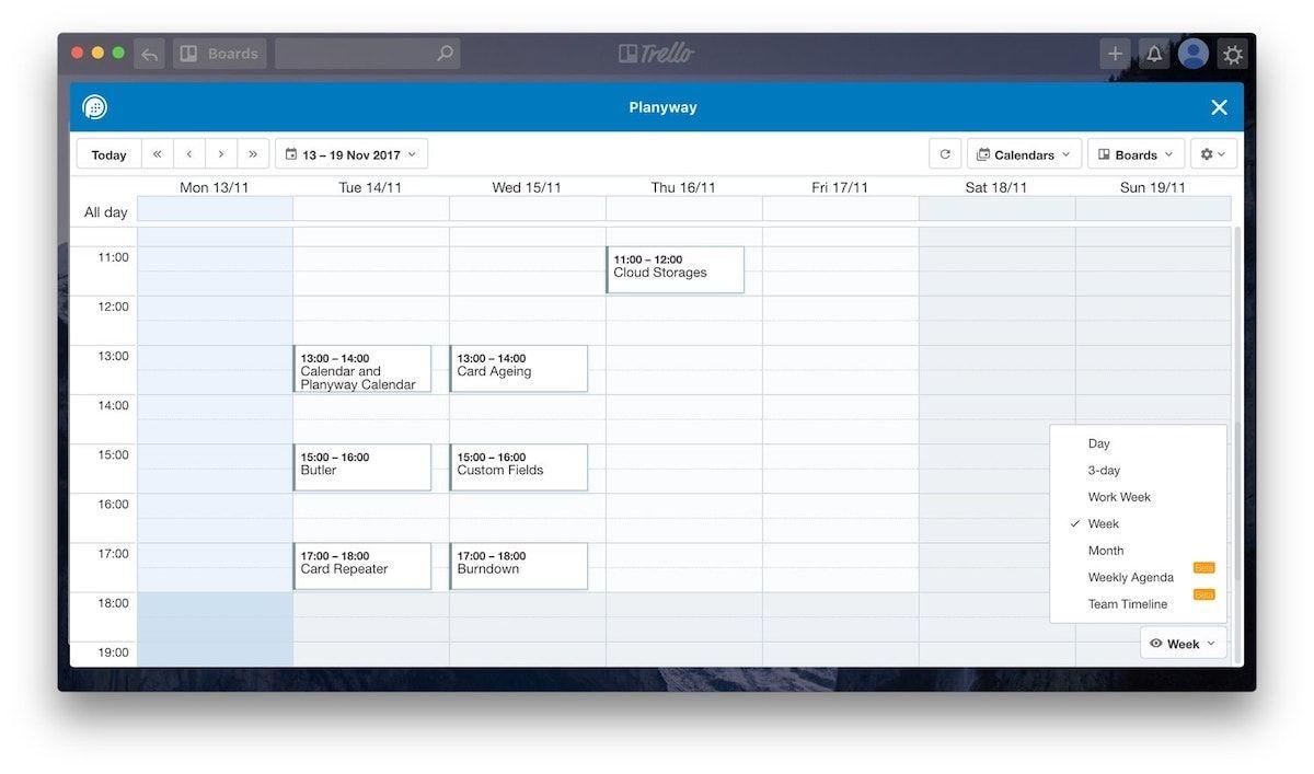 1. Calendar and Planyway Calendar 2