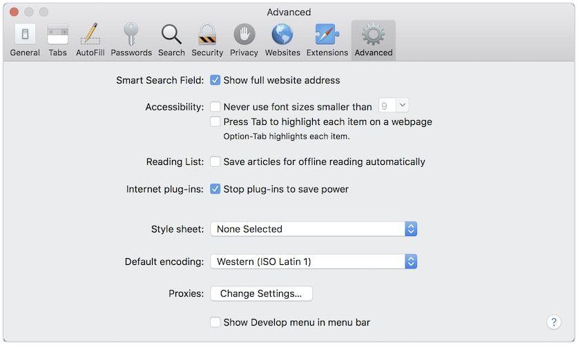 1. Show Full Web Address 1