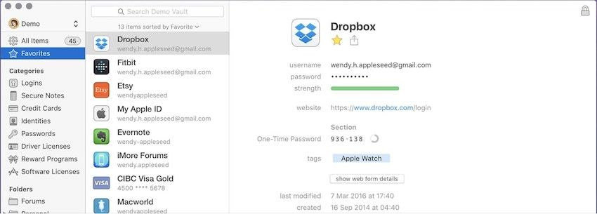 1. Best Password Manager App for Mac: 1Password