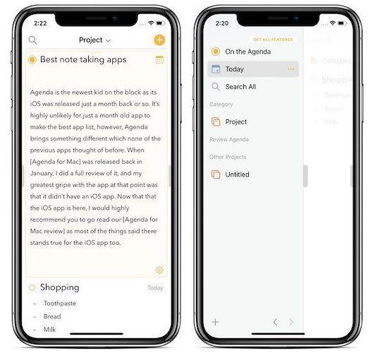 2. Agenda - Best Note-taking App for Work 1