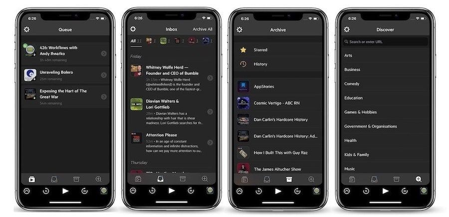 2. Castro 3: Best Podcast App for Managing Subscriptions