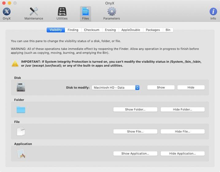 2. Remove Junk Files using Onyx