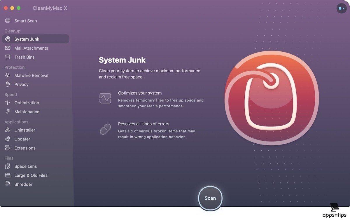 2. Remove Junk Files 1