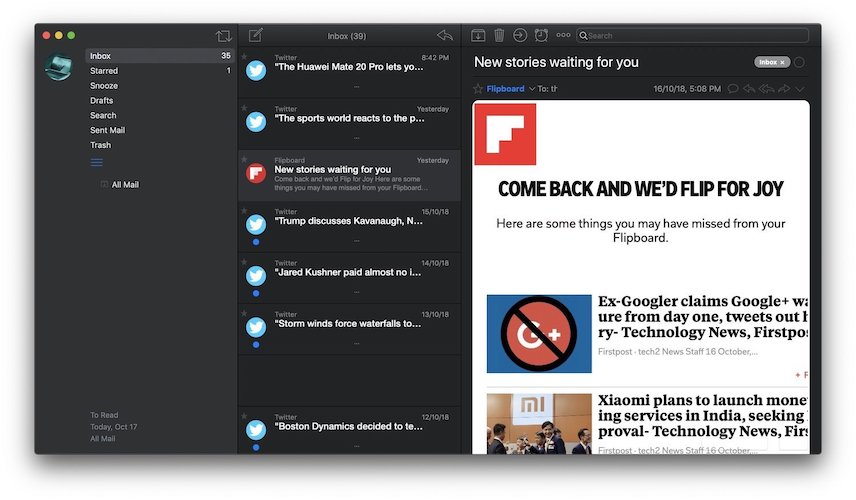 3. AirMail 3: Best Task Management Email Client for Mac