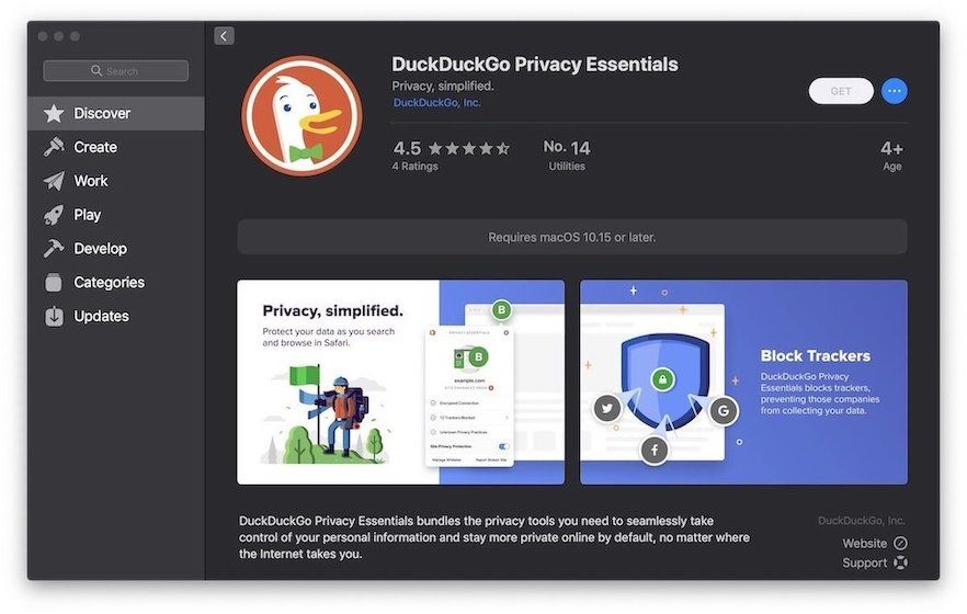3. DuckDuckGo Privacy Essentials - Safari Extensions