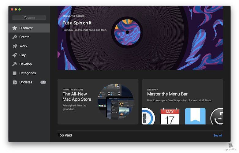 3. Redesigned Mac App Store 1