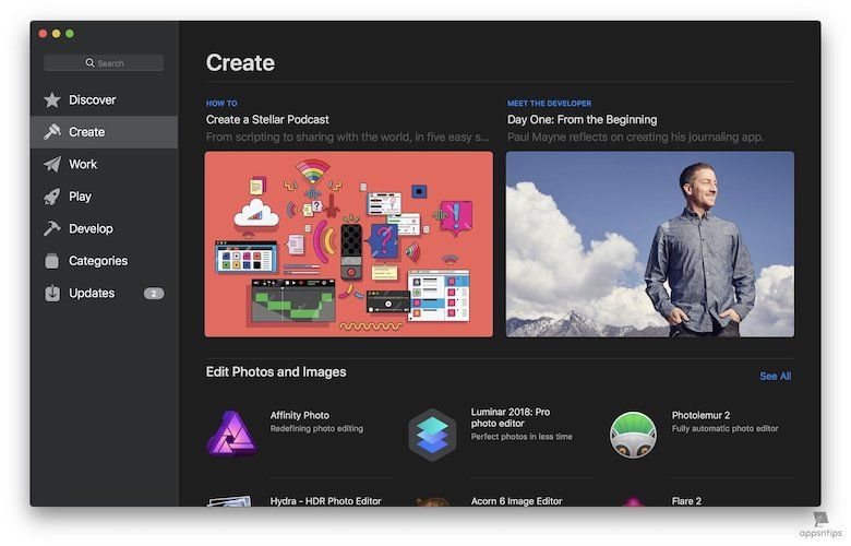 3. Redesigned Mac App Store 2