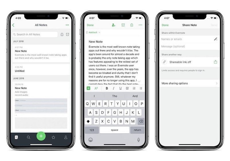 4. Evernote - Best Note-taking App for Collaboration and Research