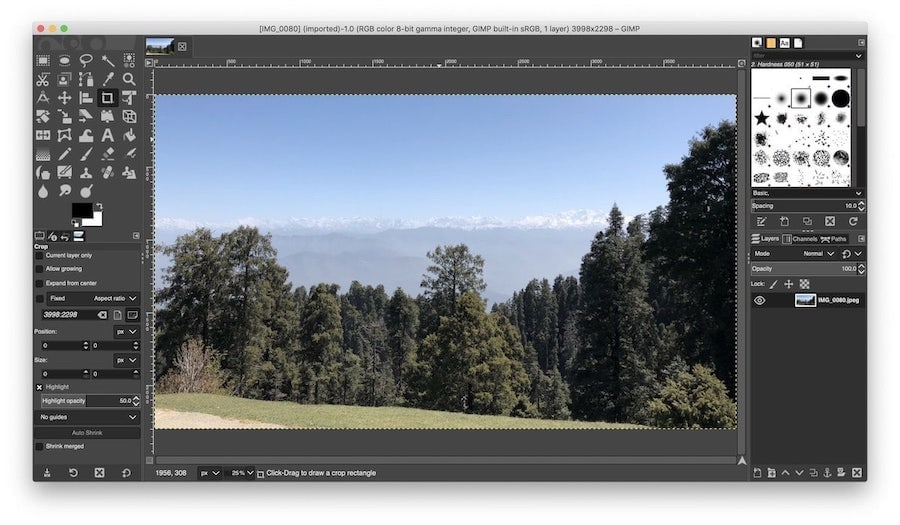 5. GIMP - Open Source Photo Editing App for Mac