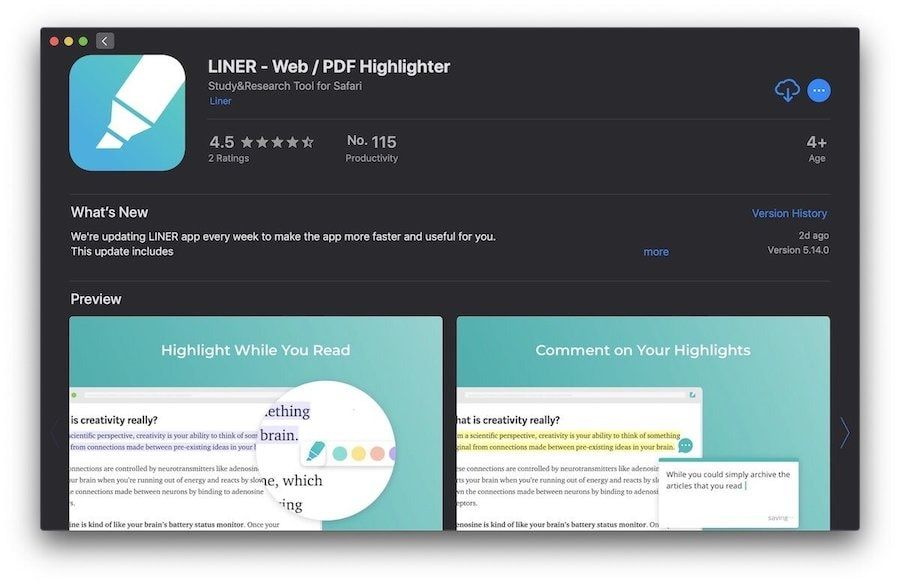 5. Liner - Web / PDF Highlighter for Safari