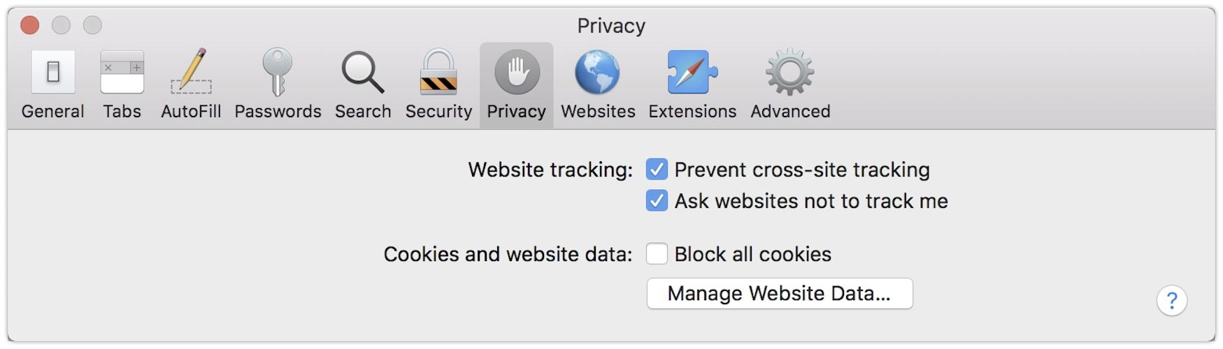 6. Stop Website From Tracking You