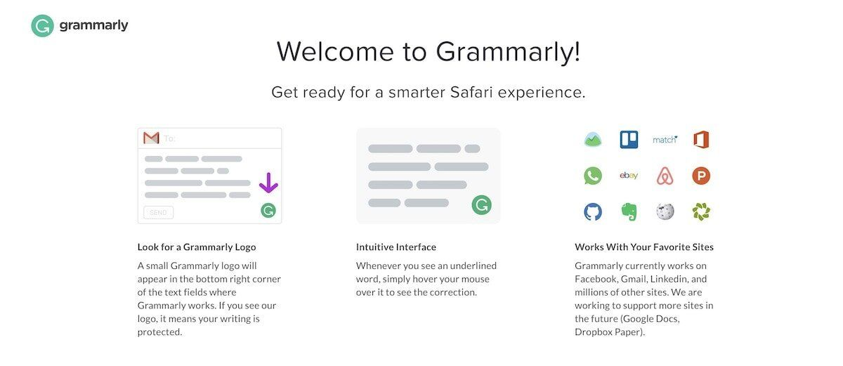 7. Grammarly extension for Safari
