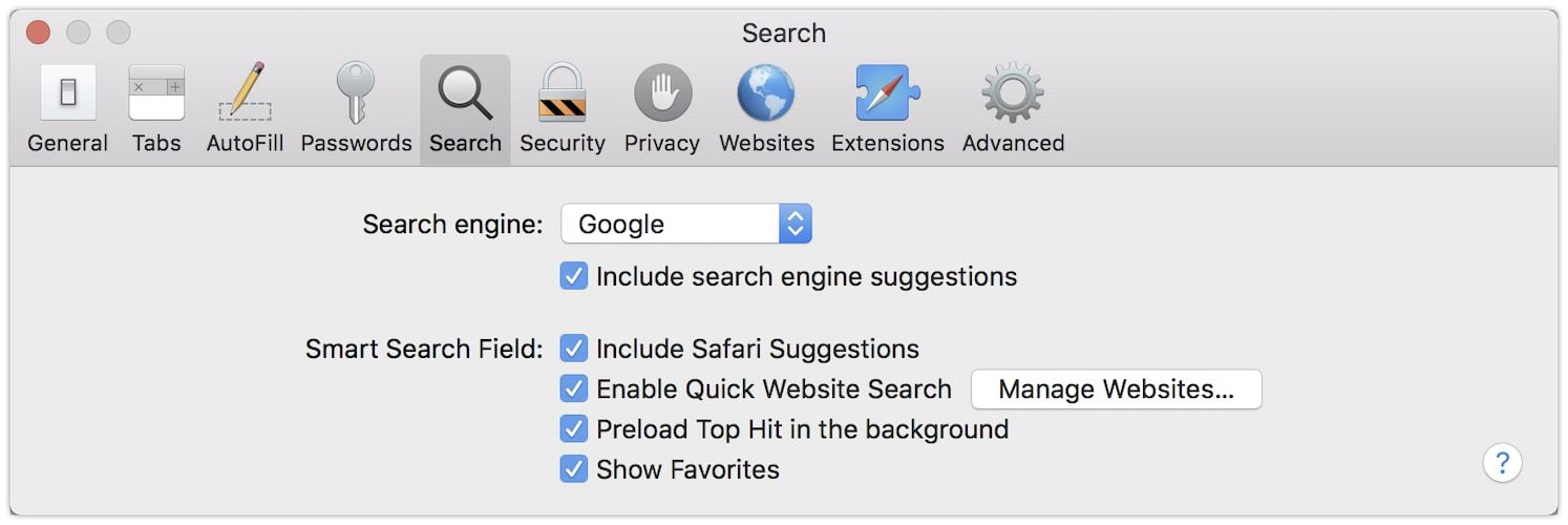 8. Change Your Default Search Engine 1