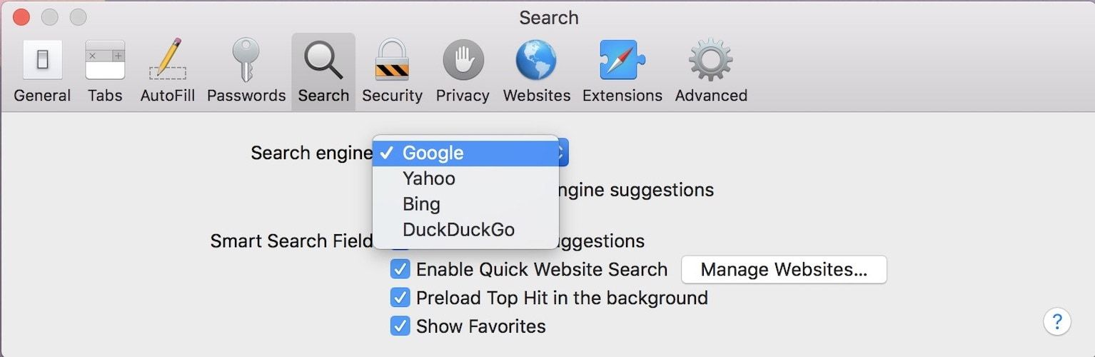 8. Change Your Default Search Engine 2
