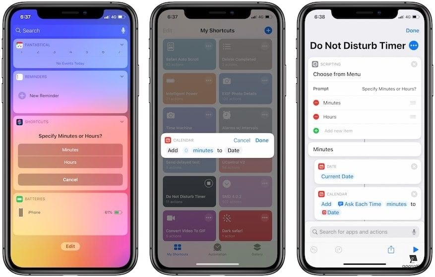 9. Do Not Disturb Timer - Best Siri Shortcuts