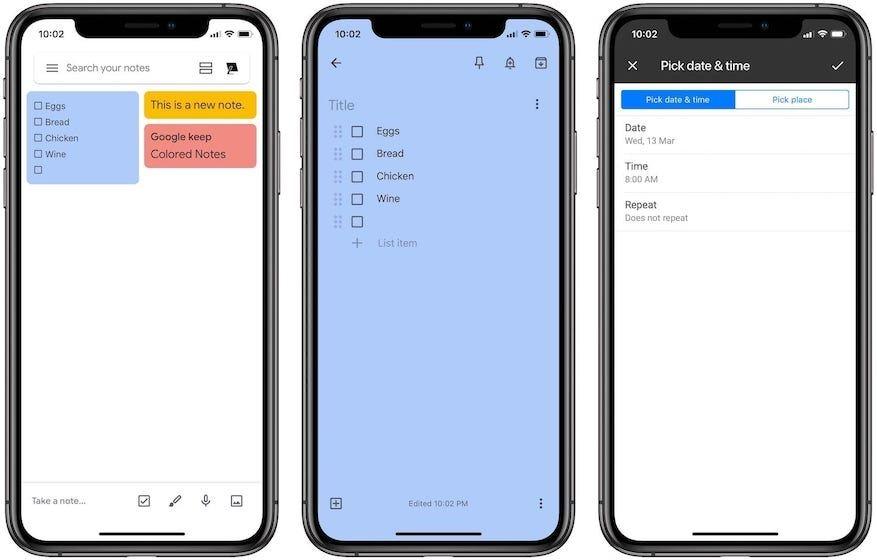 9. Google Keep: Best Versatile Note Taking App