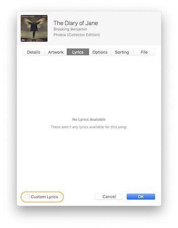 Add Custom Lyrics to Songs in Apple Music 3