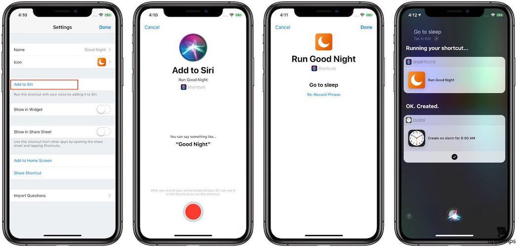 Adding the Siri Phrase to Shortcut