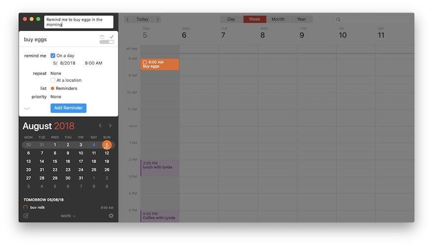 Creating Events and Reminders 5