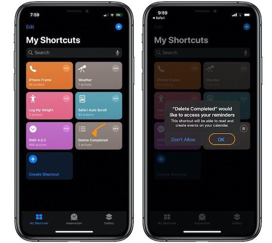 Delete Completed Reminders in Apple Reminders 2