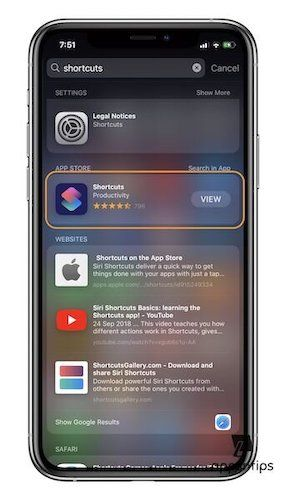 Install Shortcuts App in iOS 13 After Deleting It 1