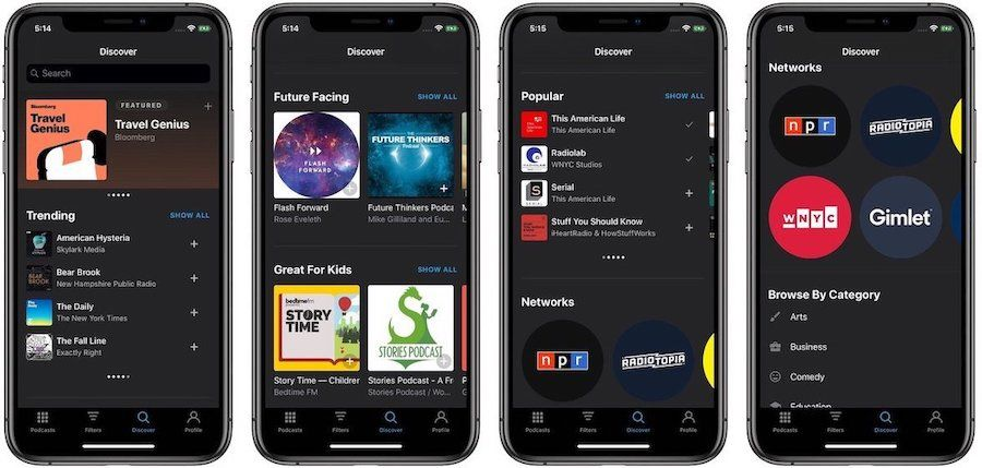 Pocket Casts Review: Discover Tab