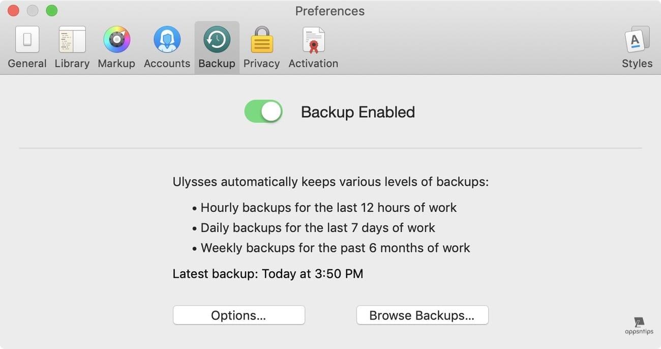 Scrivener vs Ulysses - Back up and Sync - Ulysses