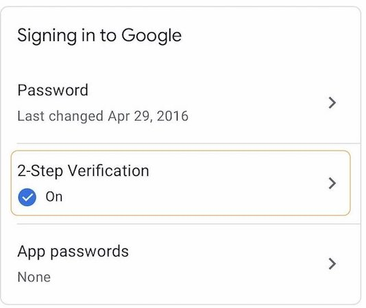 Steps for Enabling iPhone's Built-in Security Key as 2FA on Google 1