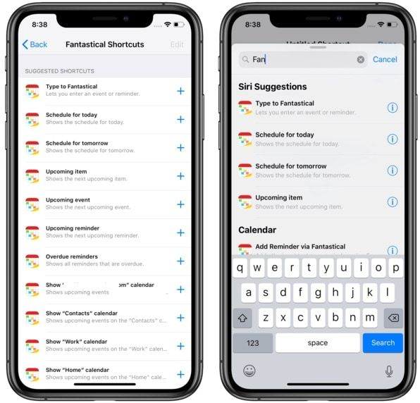 Support for Siri Shortcuts 2