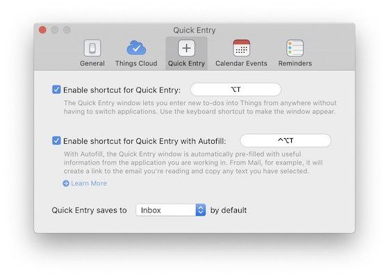 Things 3 Review: Inputting Tasks on Mac 2