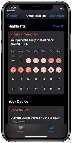 Using Cycle Tracking in Apple Health on Your iPhone 3