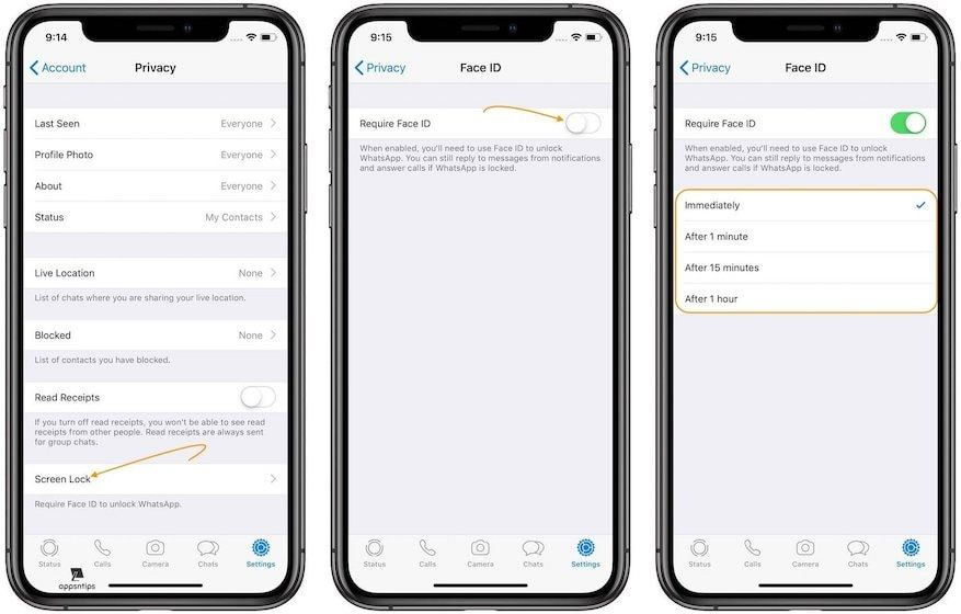 Using Face ID or Touch ID to Safeguard Your Chats on WhatsApp 3