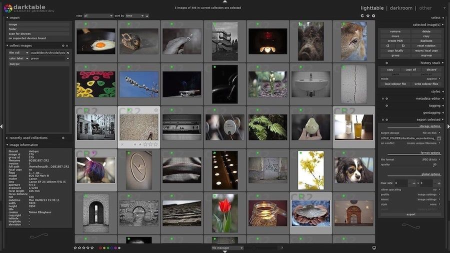 darktable - Free Raw Photo Editing Apps for Mac