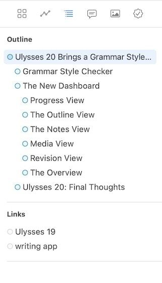 2. The Outline View in Ulysses 20
