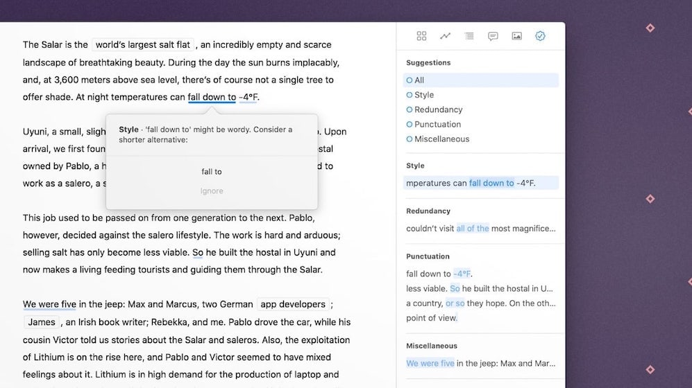 Ulysses 20 Brings a Grammar Style Checker and a New Dashboard