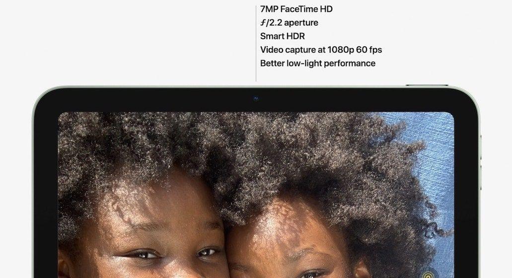 better camera on iPad Air