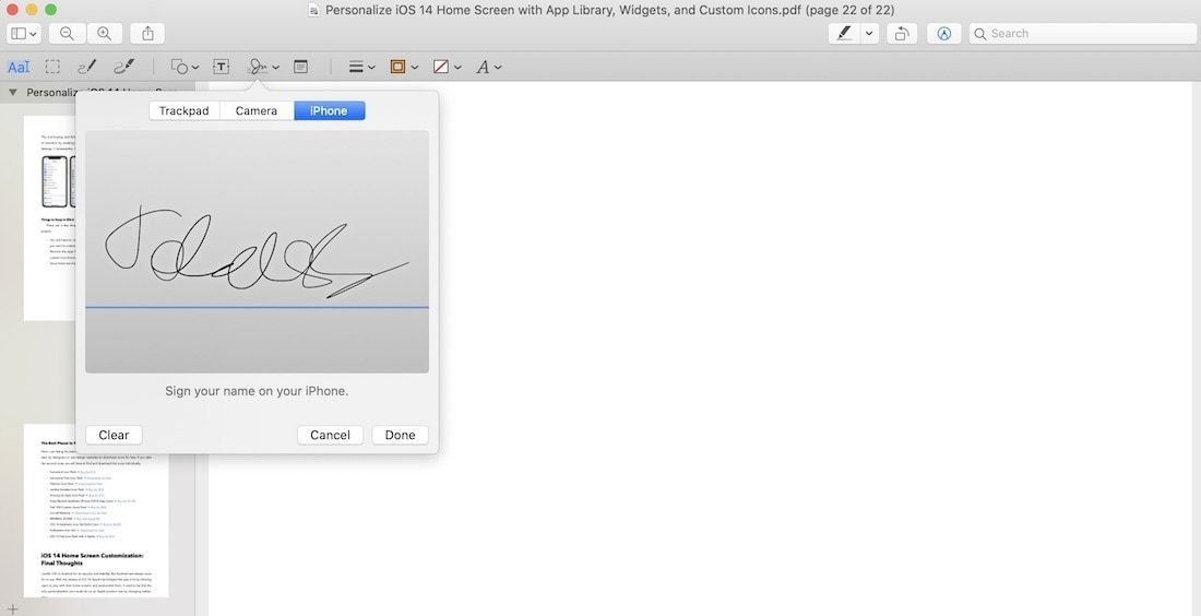 Add Signature to PDF Using Preview 3