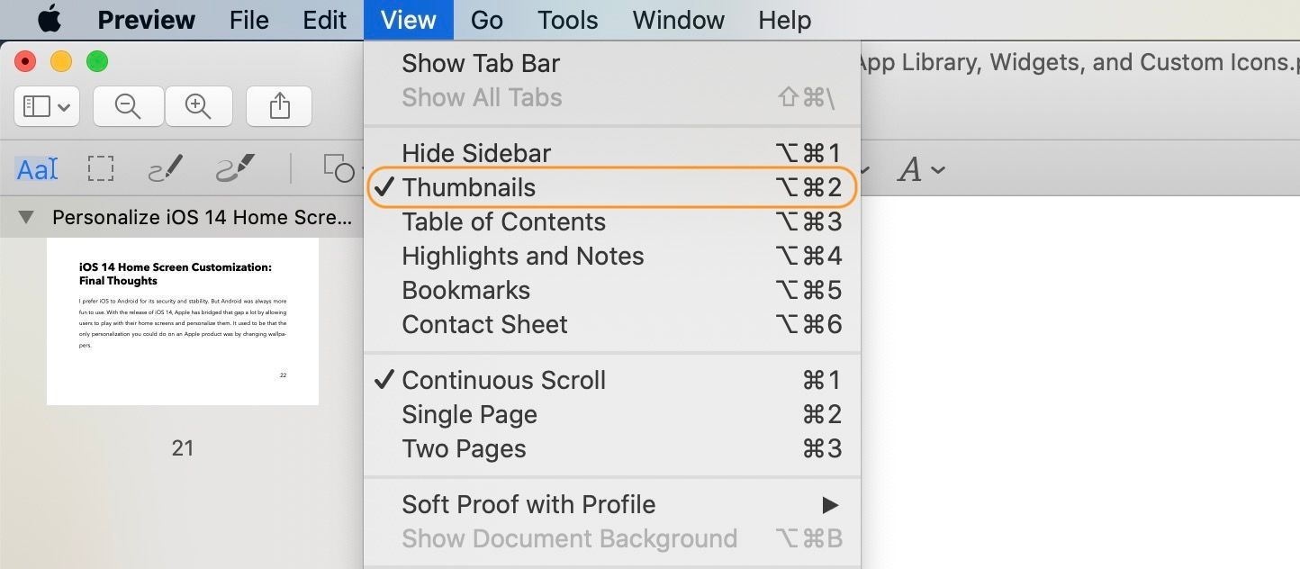 Combine Multiple PDF Files Using Preview on Mac 1