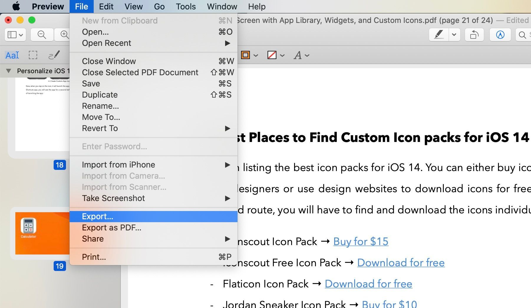 Export and Resize PDF Files Using Preview on Mac 1