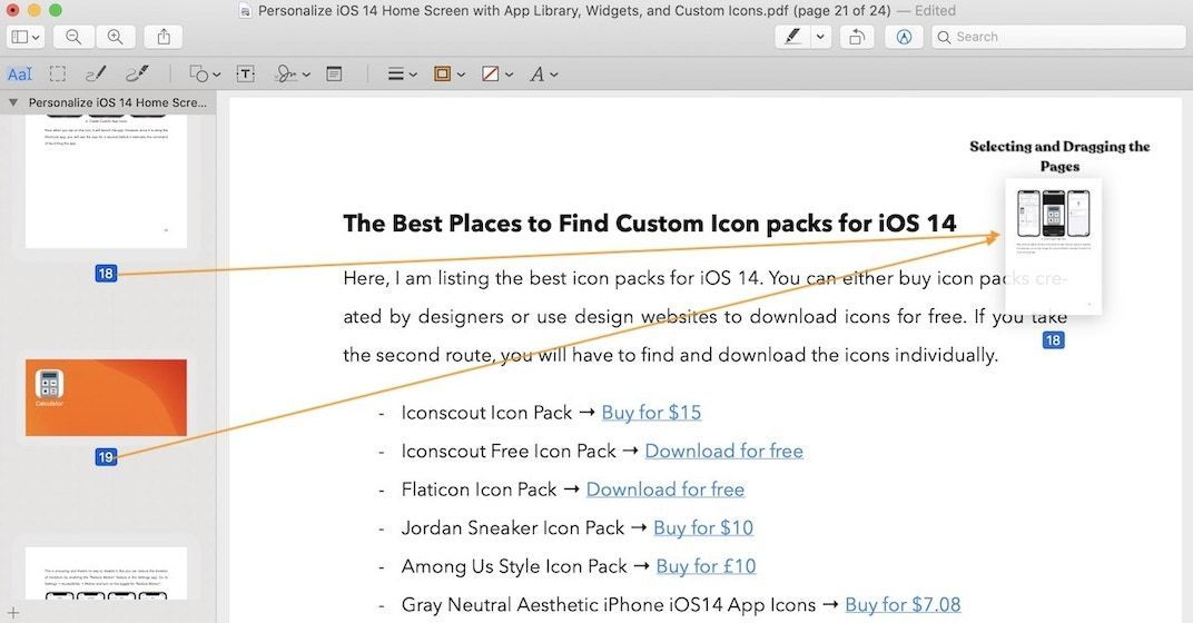 Split PDF Using Preview on Mac