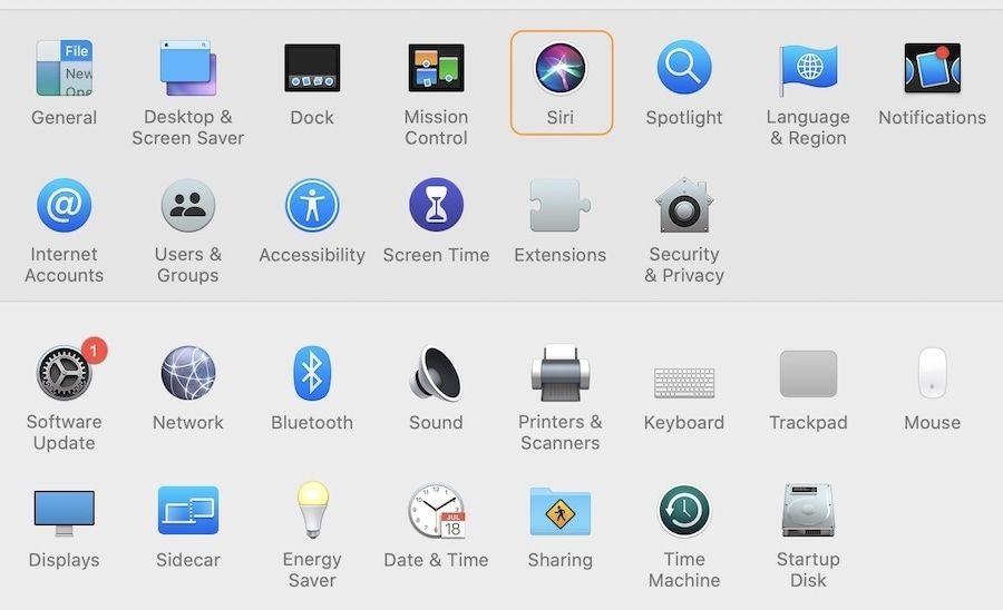 Turn Off Siri on Mac 2