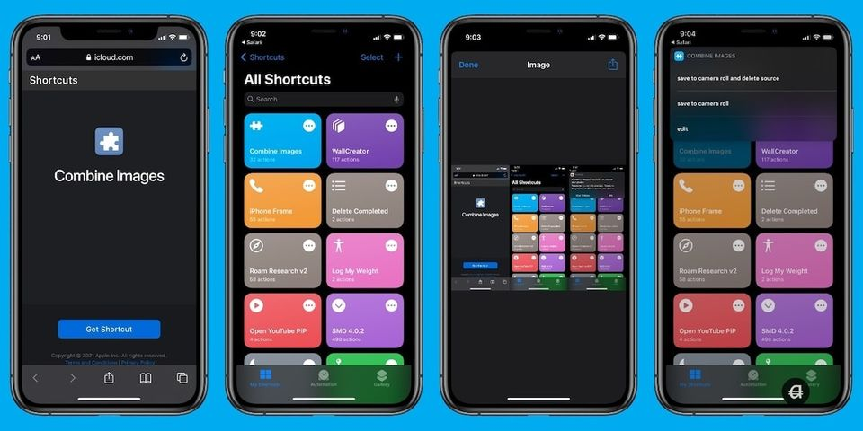 How to Use Shortcuts to Combine Images on iPhone and iPad